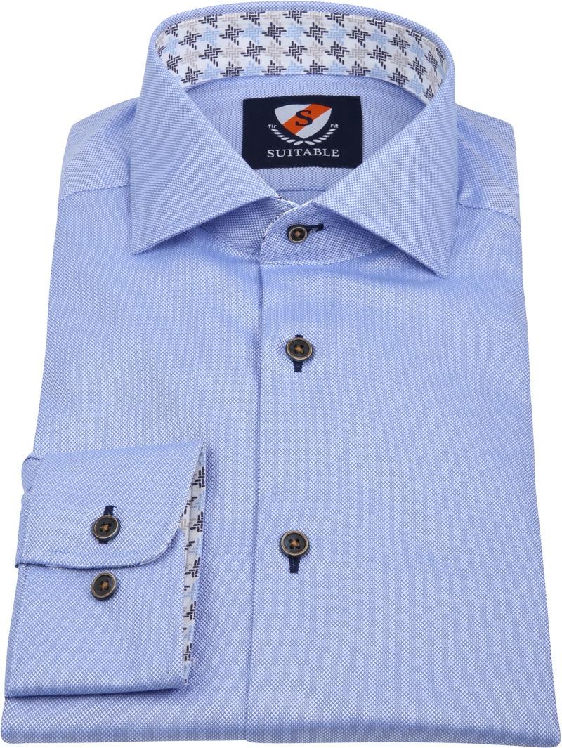 Suitable Overhemd TF Dessin Blauw foto 3