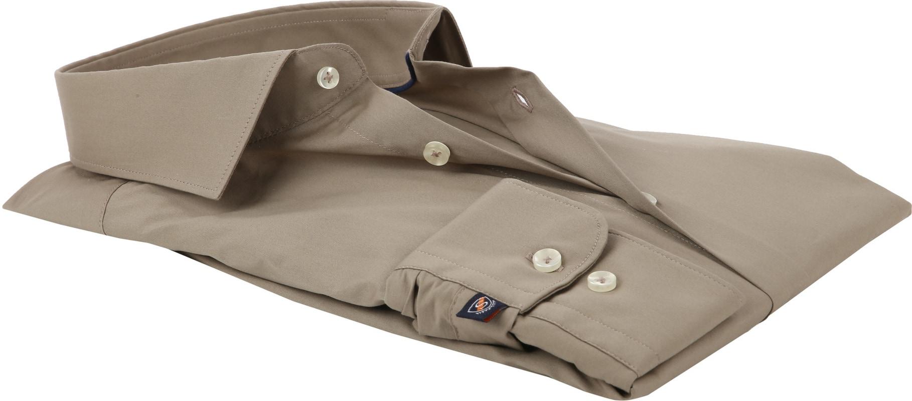 Suitable Overhemd Uni Khaki Skinny foto 3