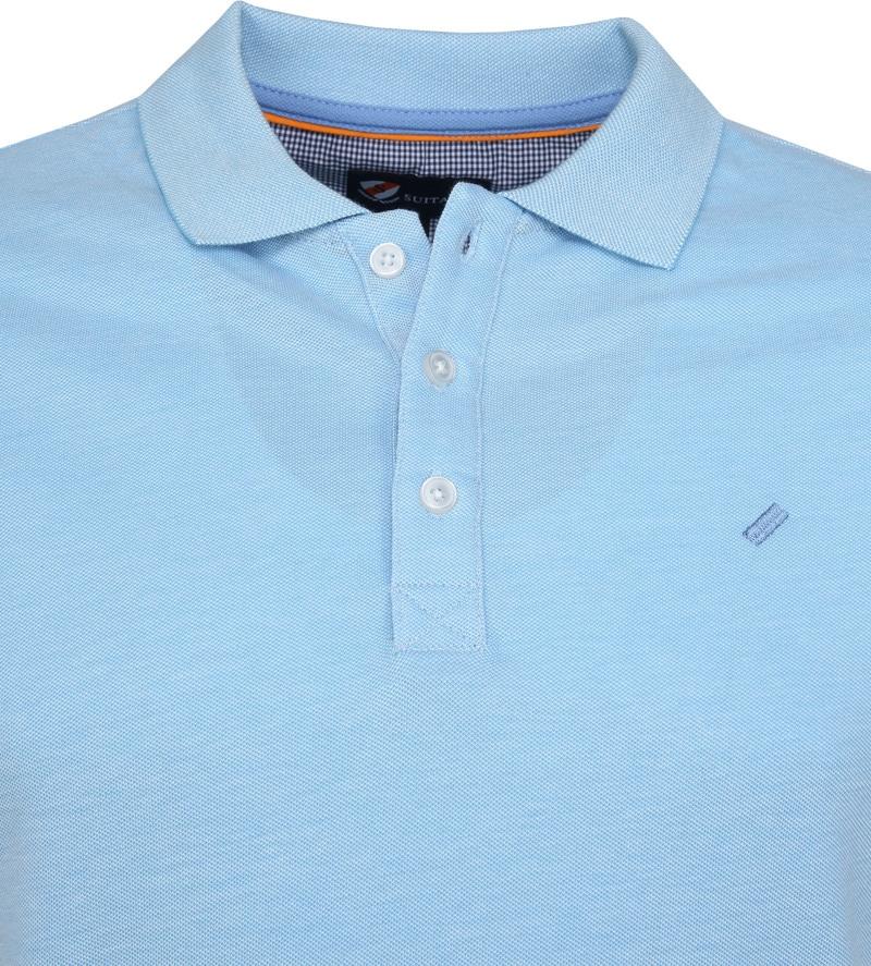 Suitable Oxford Polo Blauw foto 1