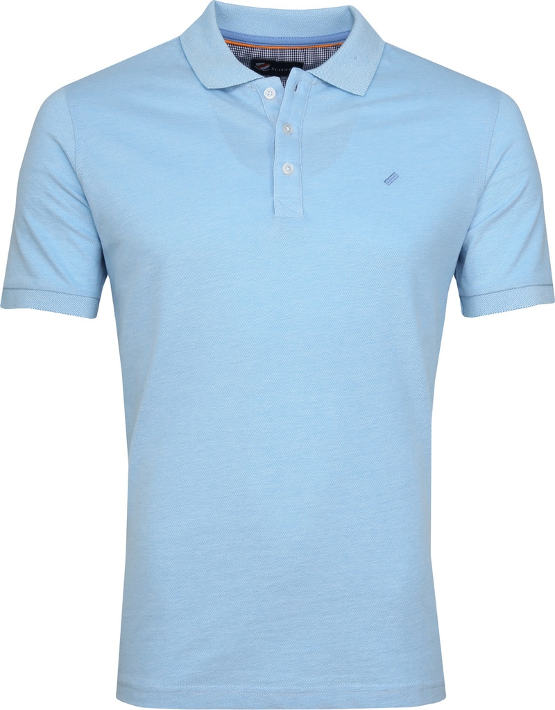 Suitable Oxford Poloshirt Blau Foto 0