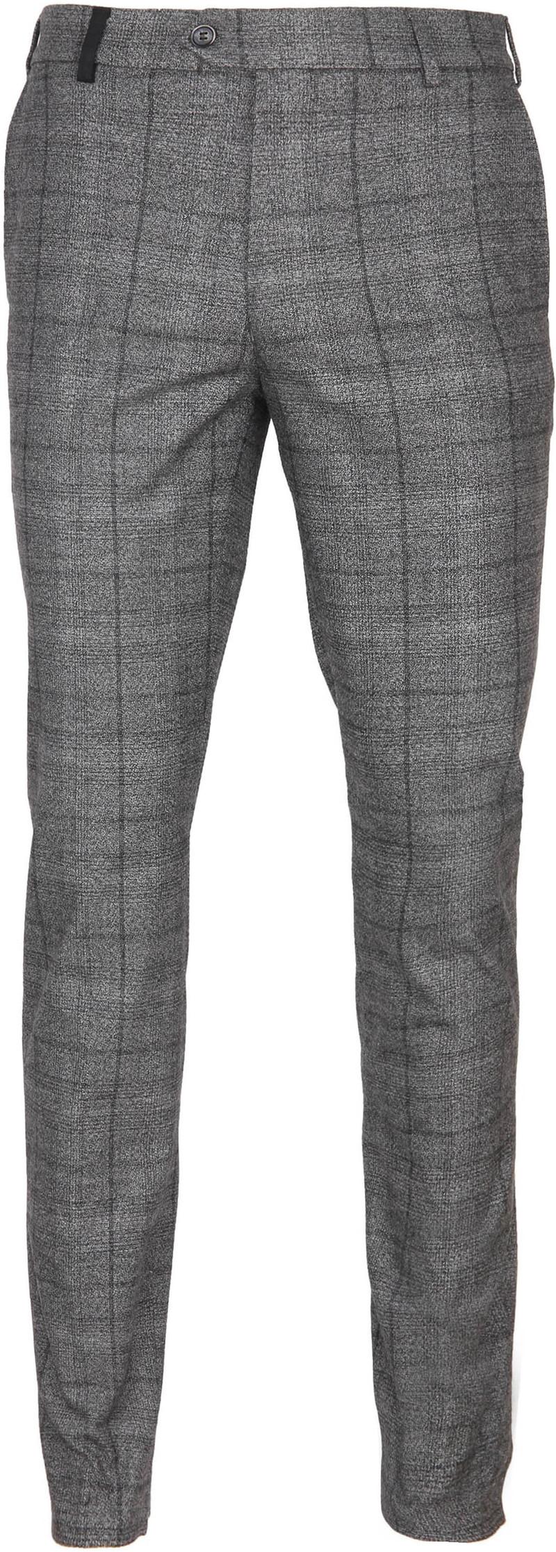 Suitable Pantalon Milano Ruit Grijs