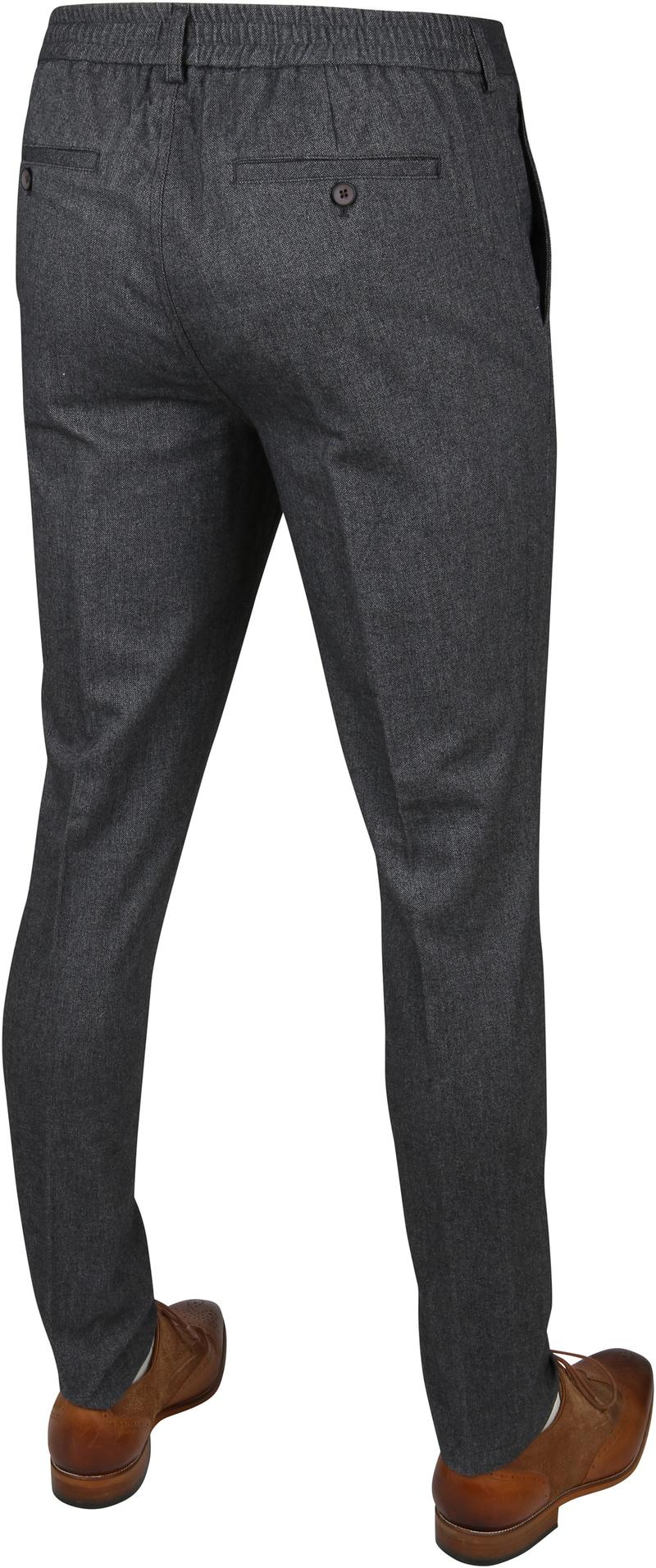Suitable Pantalon Travis Antraciet foto 3