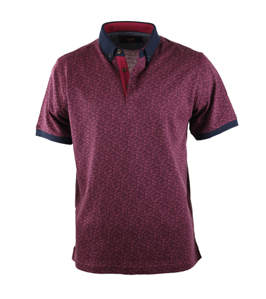 Suitable Polo Bordeaux Print  online bestellen | Suitable