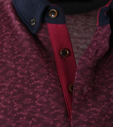 Detail Suitable Polo Bordeaux Print