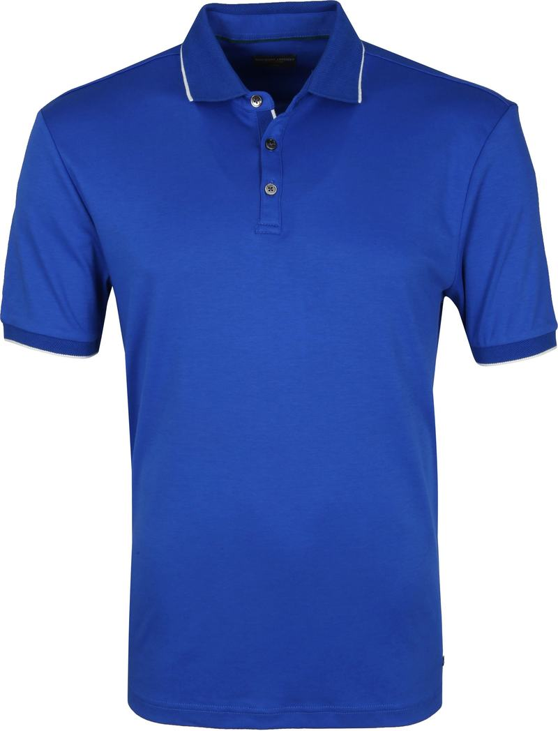 Suitable Polo Liquid Jersey Blauw foto 0