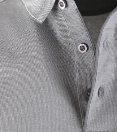 Detail Suitable Polo Oxford Grijs
