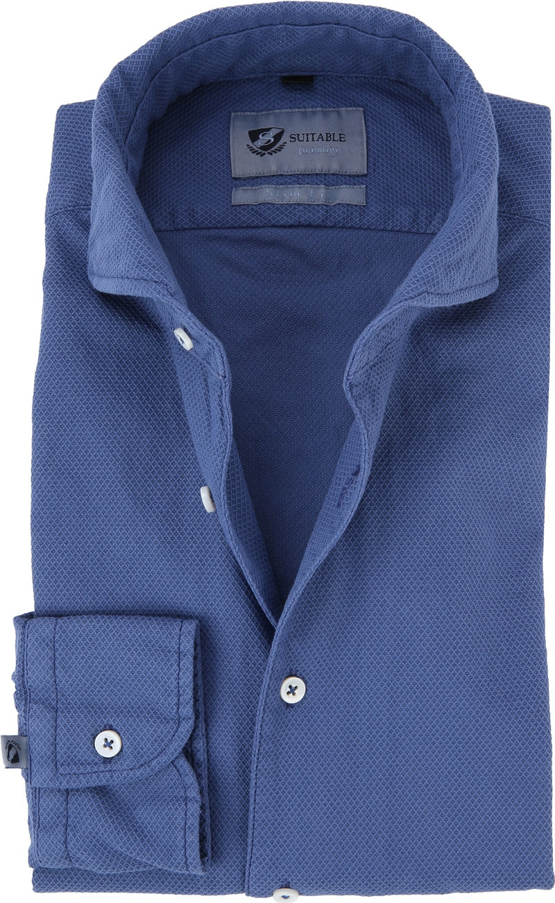 Suitable Prestige Hemd Blau Foto 0