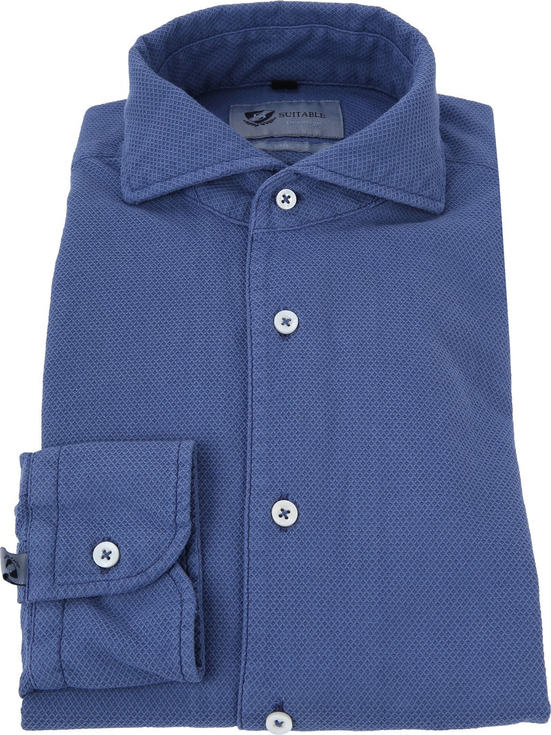Suitable Prestige Hemd Blau Foto 2