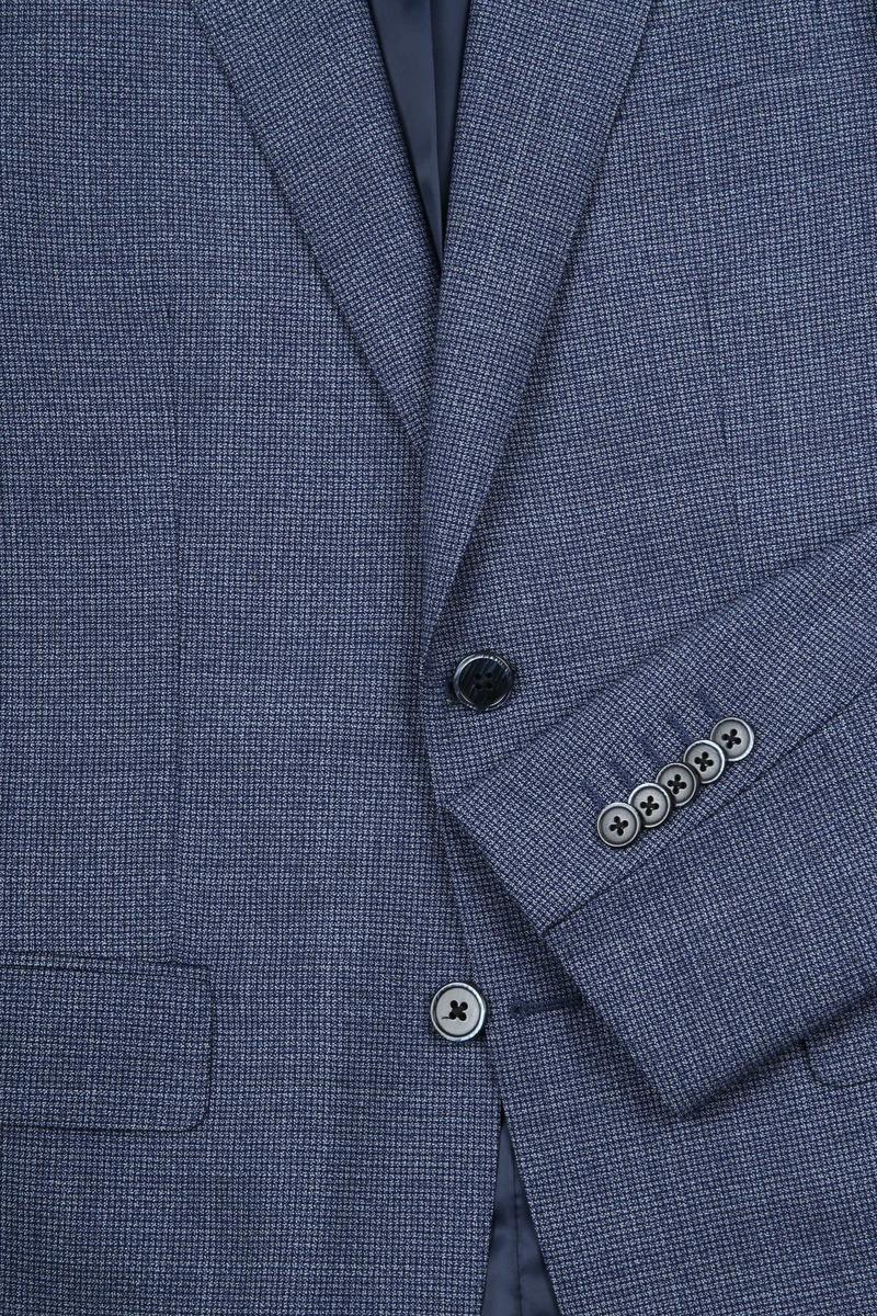 Suitable Prestige Kostuum Faux Ruiten Blauw - Blauw maat 102