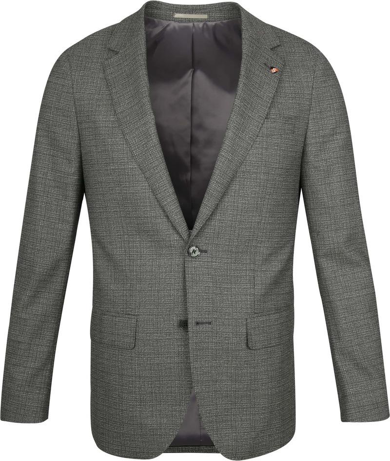 Suitable Prestige Kostuum Faux Ruiten Donkergroen - Donkergroen maat 98