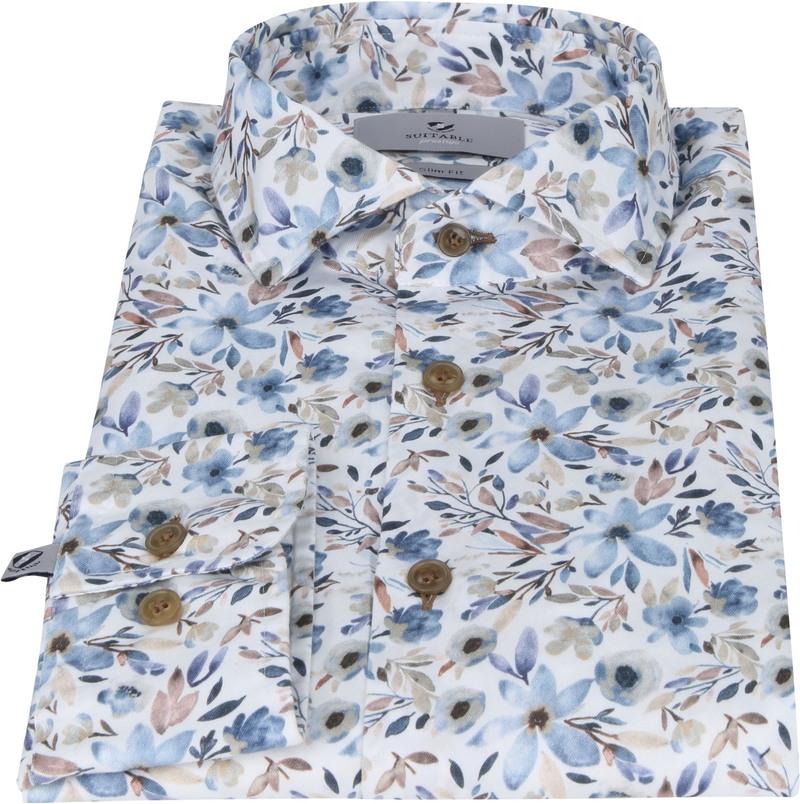 Suitable Prestige Overhemd Bloemen Acquarel