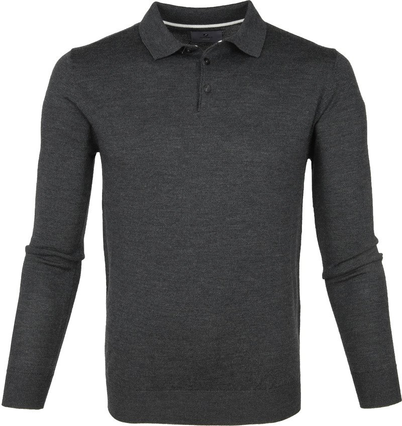 Suitable Prestige Polo Merino Antraciet foto 0