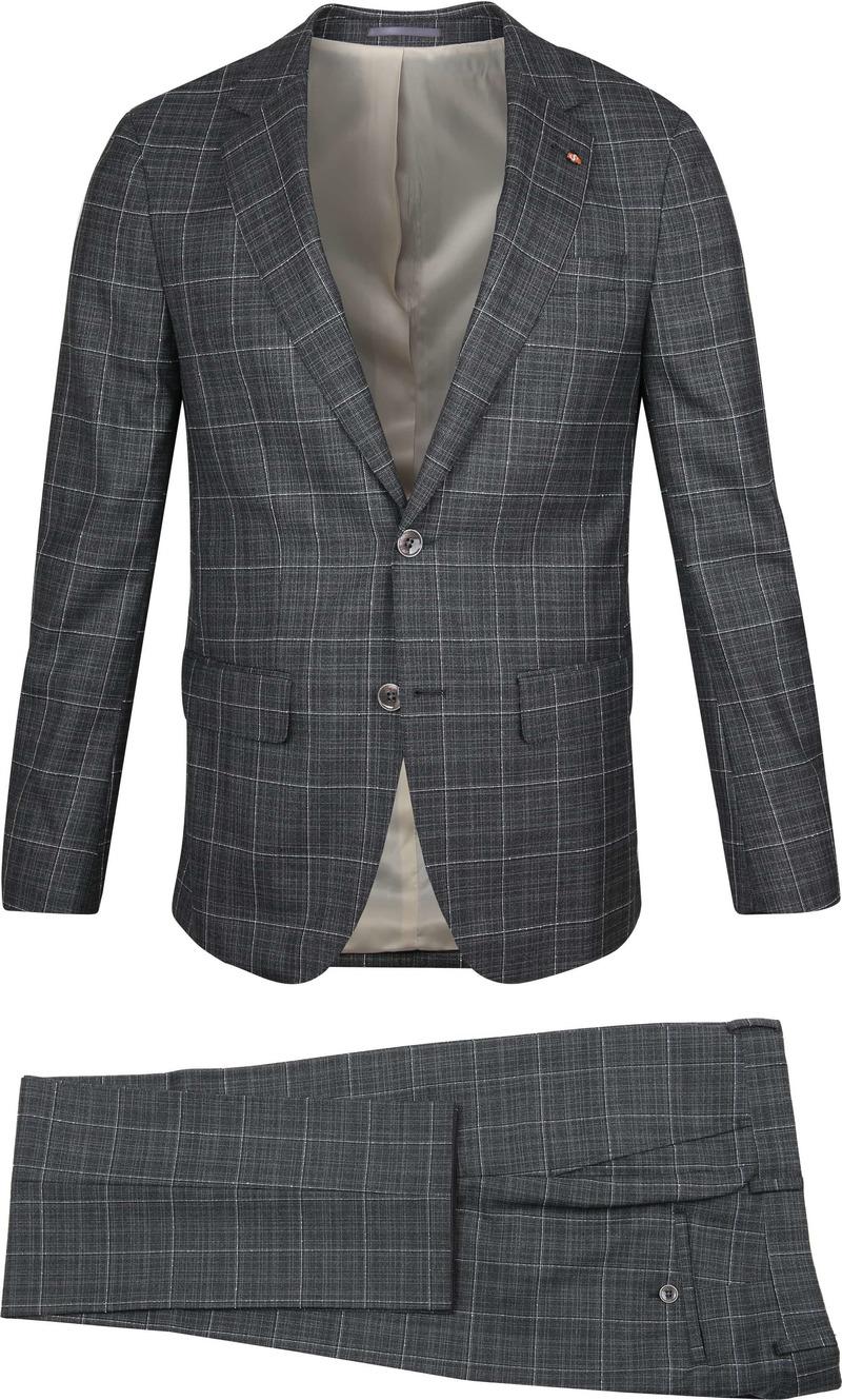 Suitable Prestige Suit Checks Grey photo 0