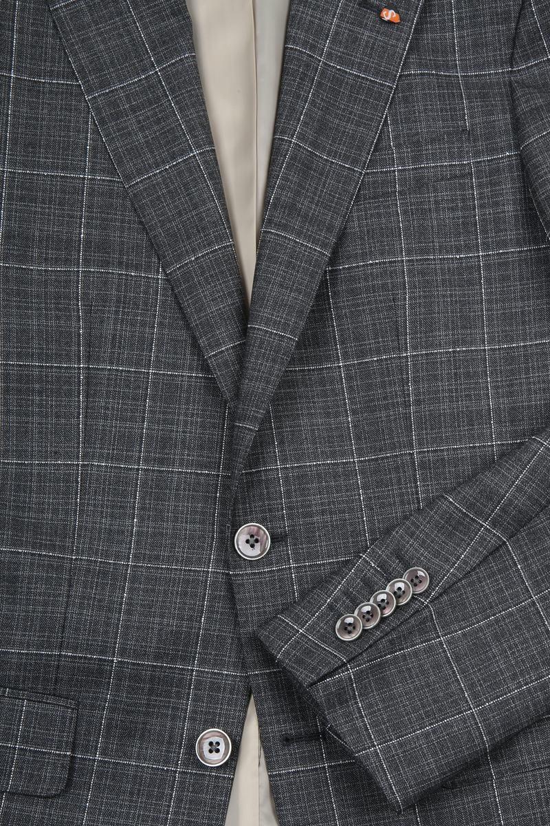 Suitable Prestige Suit Checks Grey photo 3