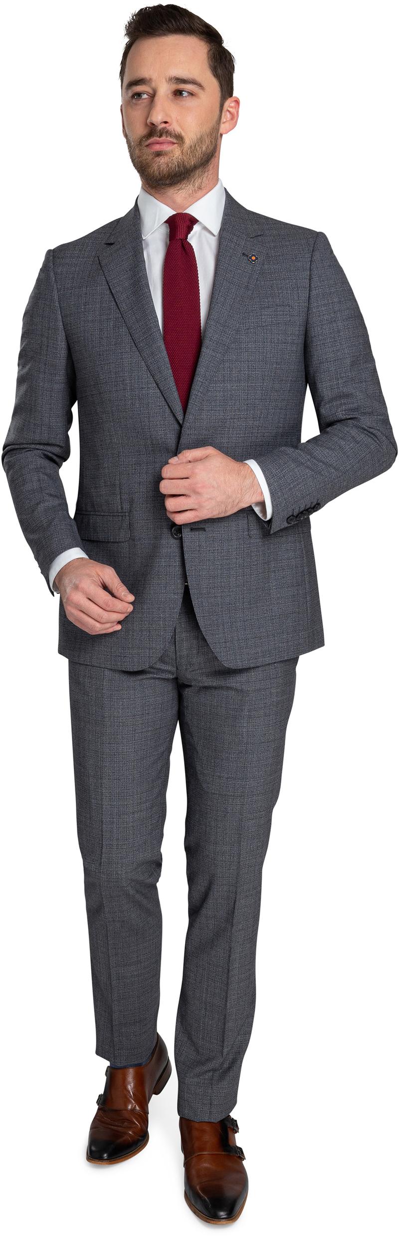Suitable Prestige Suit Faux Checks Grey