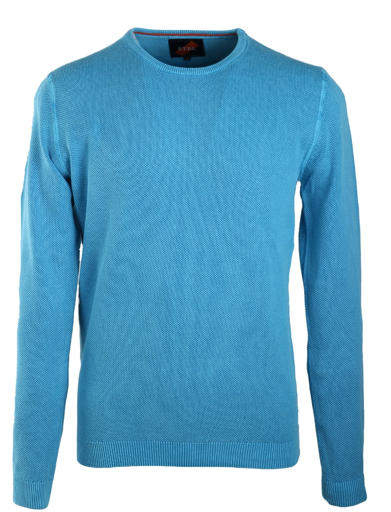 Suitable Pull Ronde Hals Korrel Aqua  online bestellen | Suitable