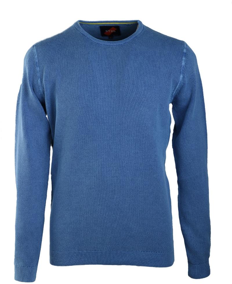Suitable Pull Ronde Hals Korrel Blauw  online bestellen   Suitable