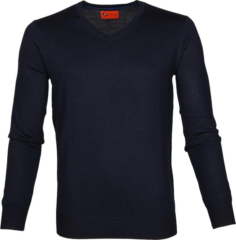 Suitable Pullover Aron Merino Navy photo 0
