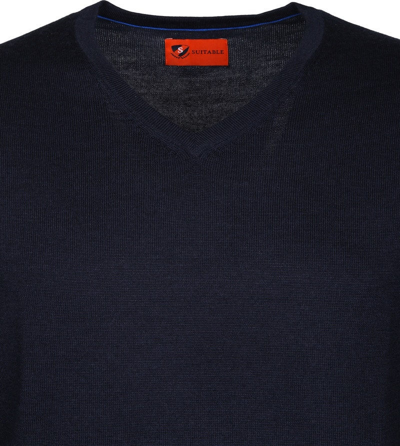 Suitable Pullover Aron Merino Navy photo 1