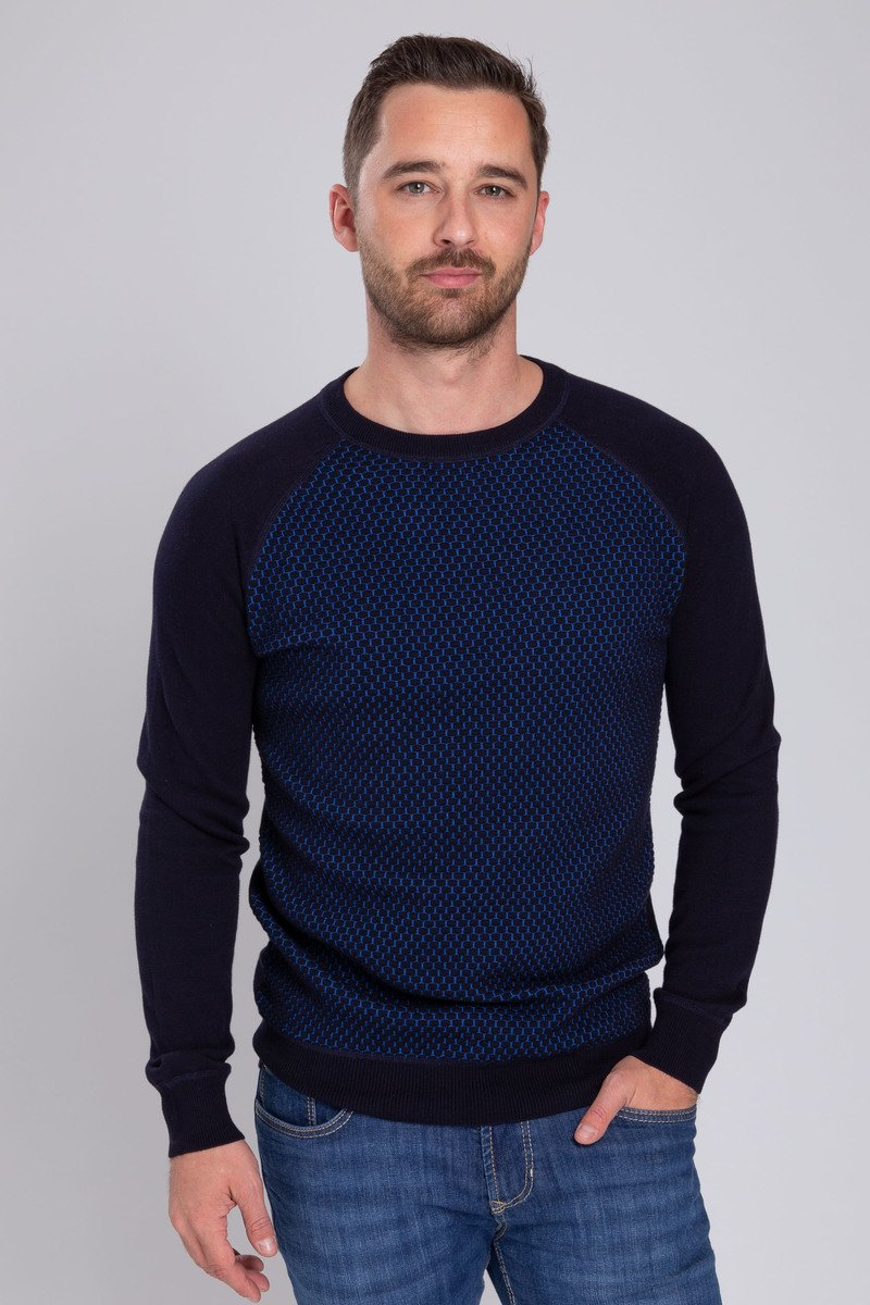 Suitable Pullover Harry Navy Blue photo 4