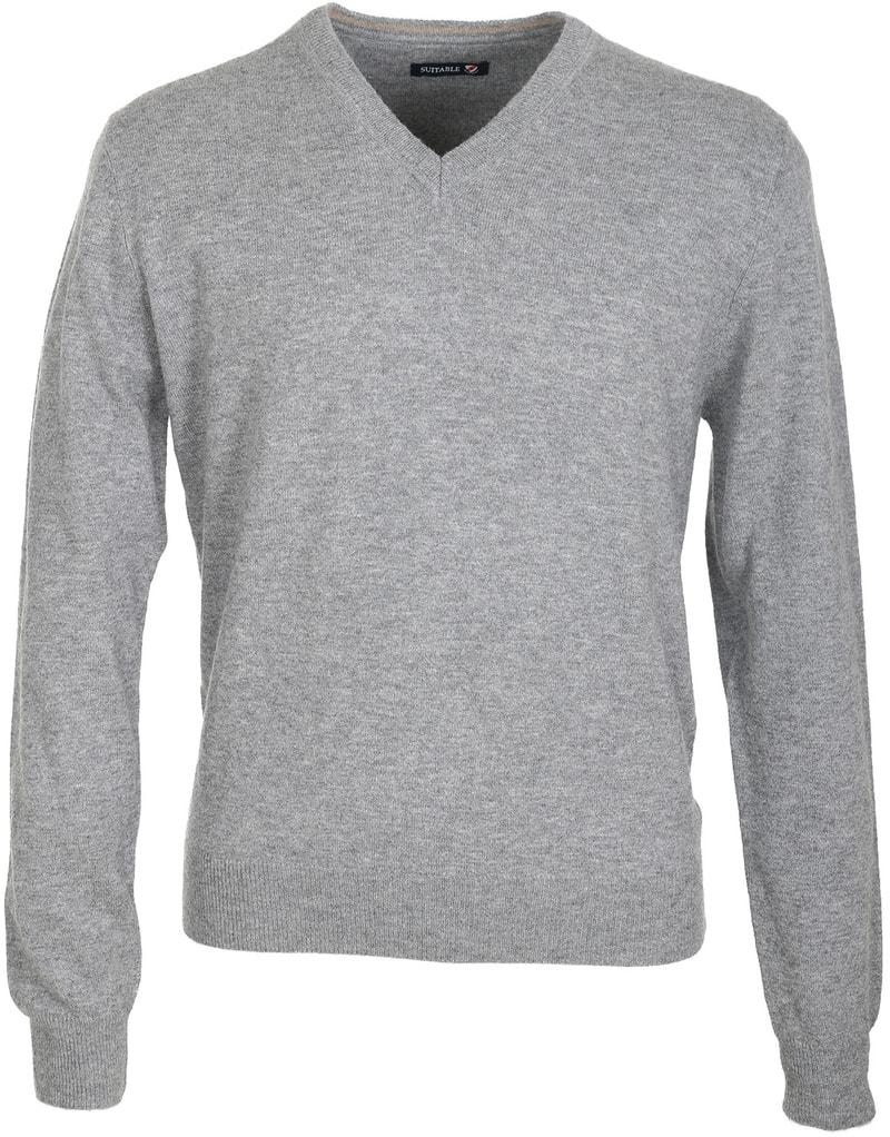 Suitable Pullover Lamswol Grijs  online bestellen   Suitable
