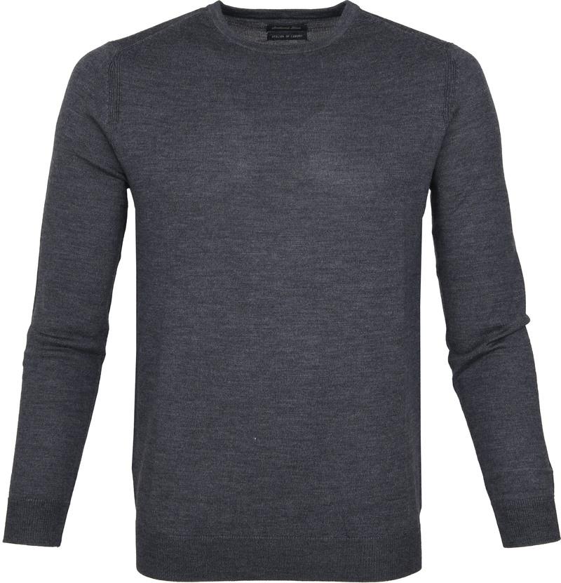 Suitable Pullover Merino Rick Antraciet foto 0