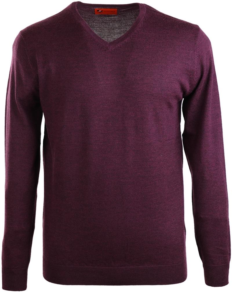 Suitable Pullover Merino Wol Bordeaux  online bestellen | Suitable