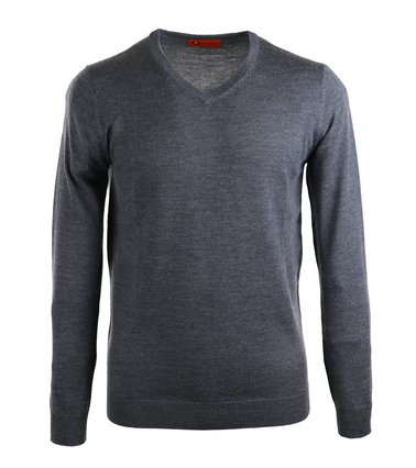 Suitable Pullover Merino Wol Donkergrijs  online bestellen | Suitable