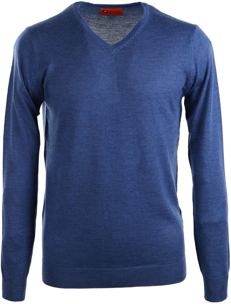 Suitable Pullover Merino Wol Indigo Blauw  online bestellen | Suitable