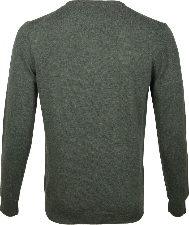 Suitable Pullover O-Hals Lamswol Donkergroen foto 3