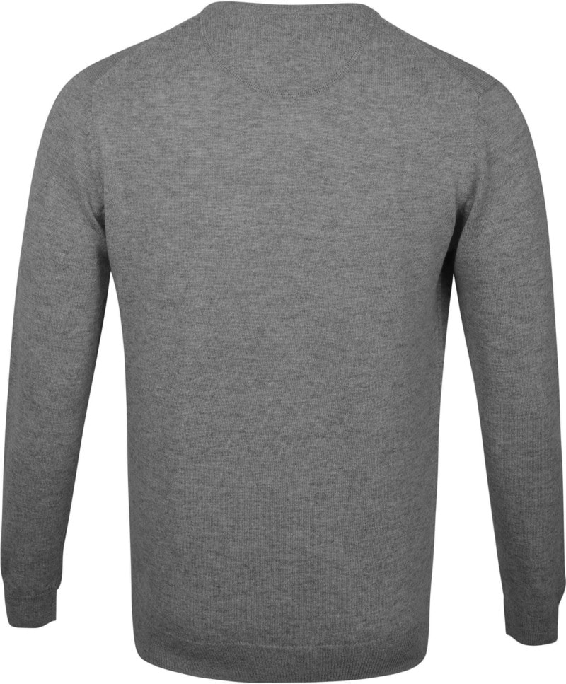 Suitable Pullover O-Hals Lamswol Grijs foto 3