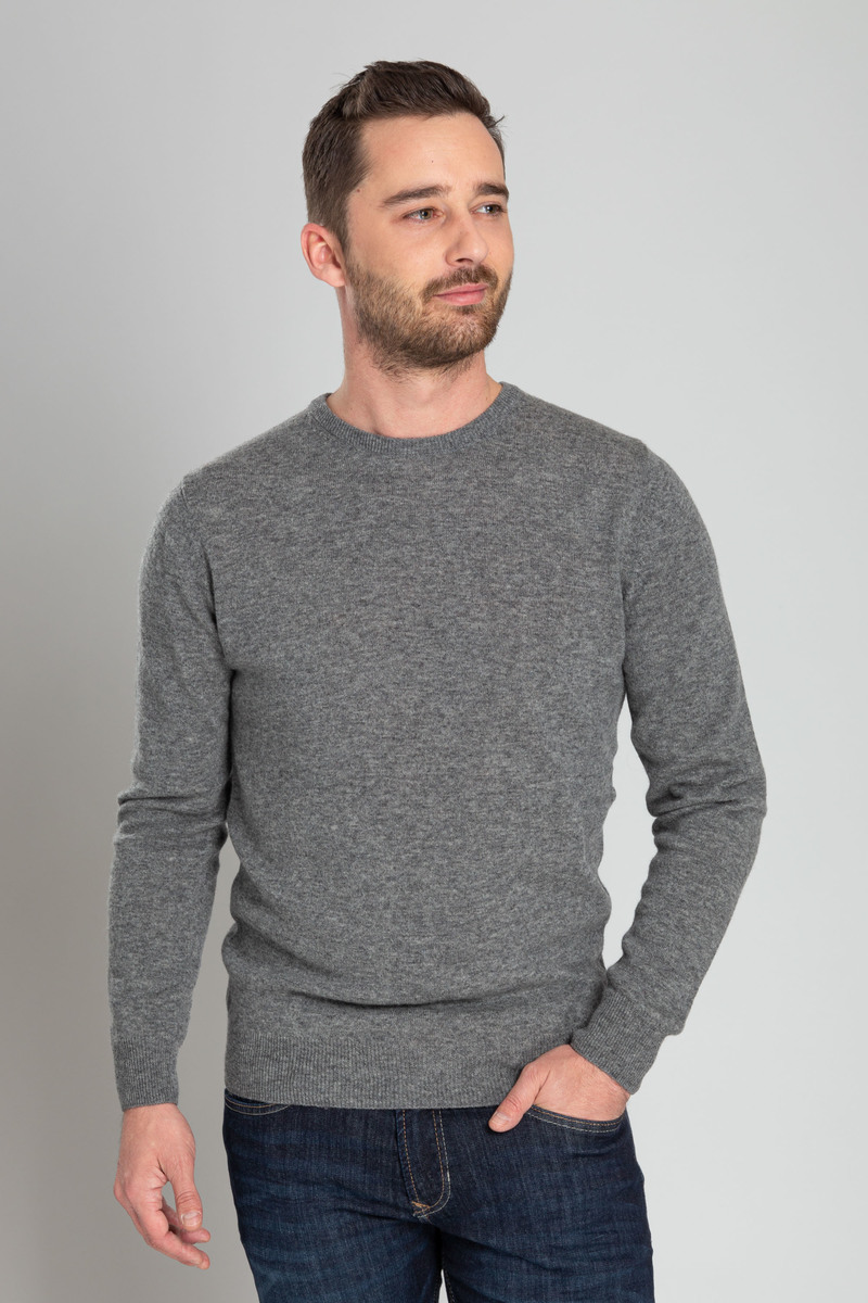 Suitable Pullover O-Hals Lamswol Grijs foto 4