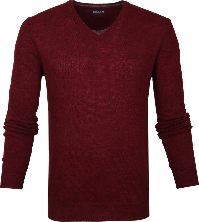 Suitable Pullover V-Hals Lamswol Bordeaux foto 0