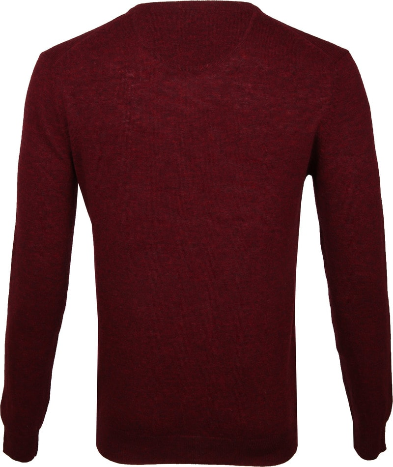 Suitable Pullover V-Hals Lamswol Bordeaux foto 4