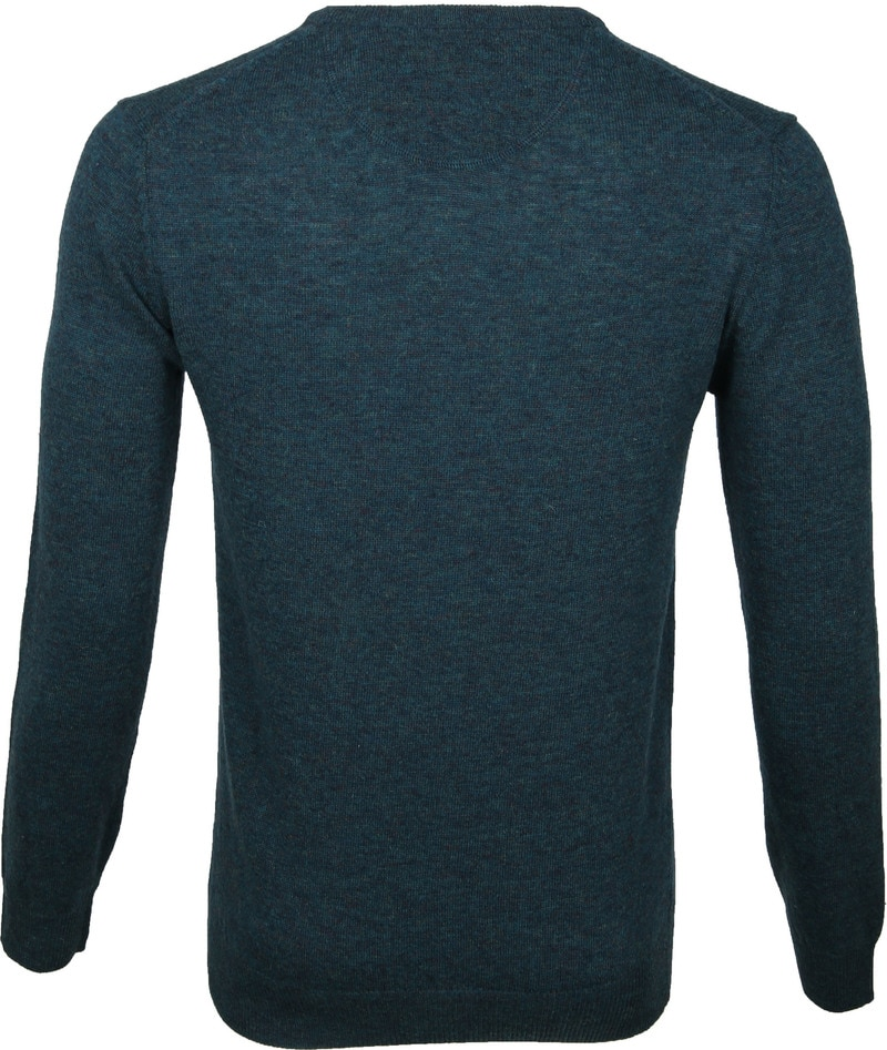 Suitable Pullover V-Hals Lamswol Groen foto 4