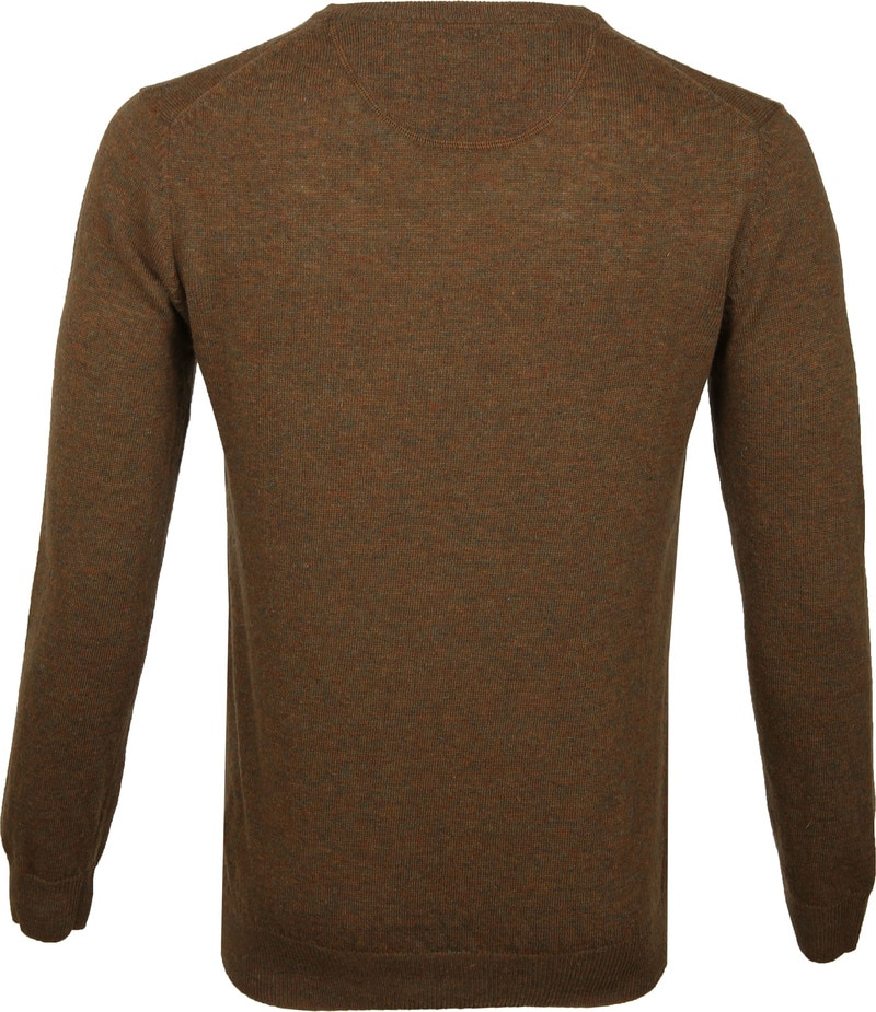 Suitable Pullover V-Neck Lambswool Brown photo 4