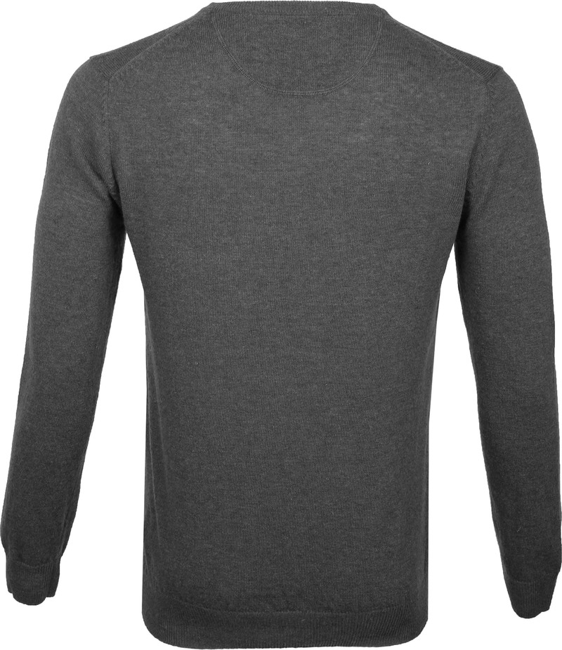 Suitable Pullover V-Neck Lambswool Grey photo 3