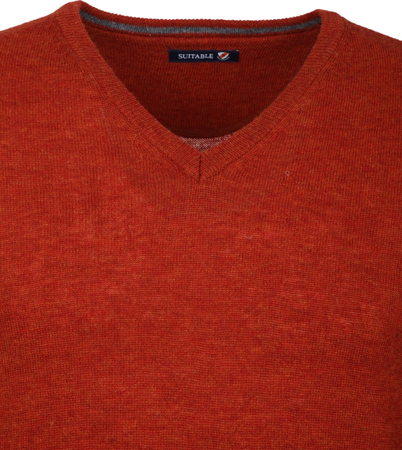 Suitable Pullover V-Neck Lambswool Orange photo 2