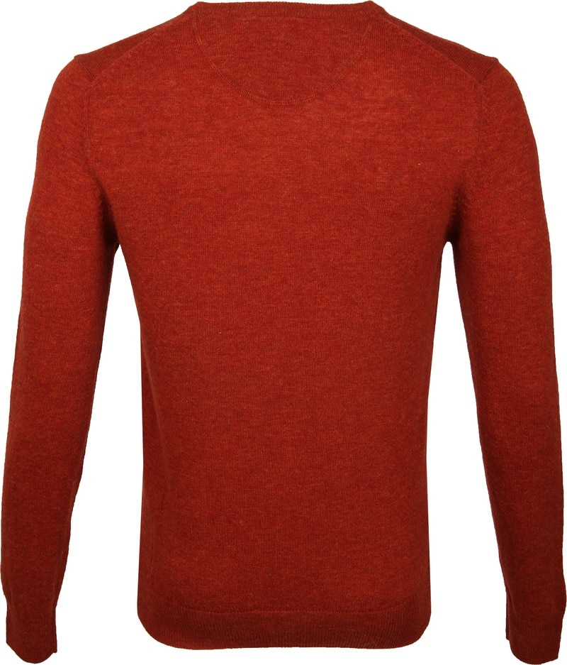 Suitable Pullover V-Neck Lambswool Orange photo 4