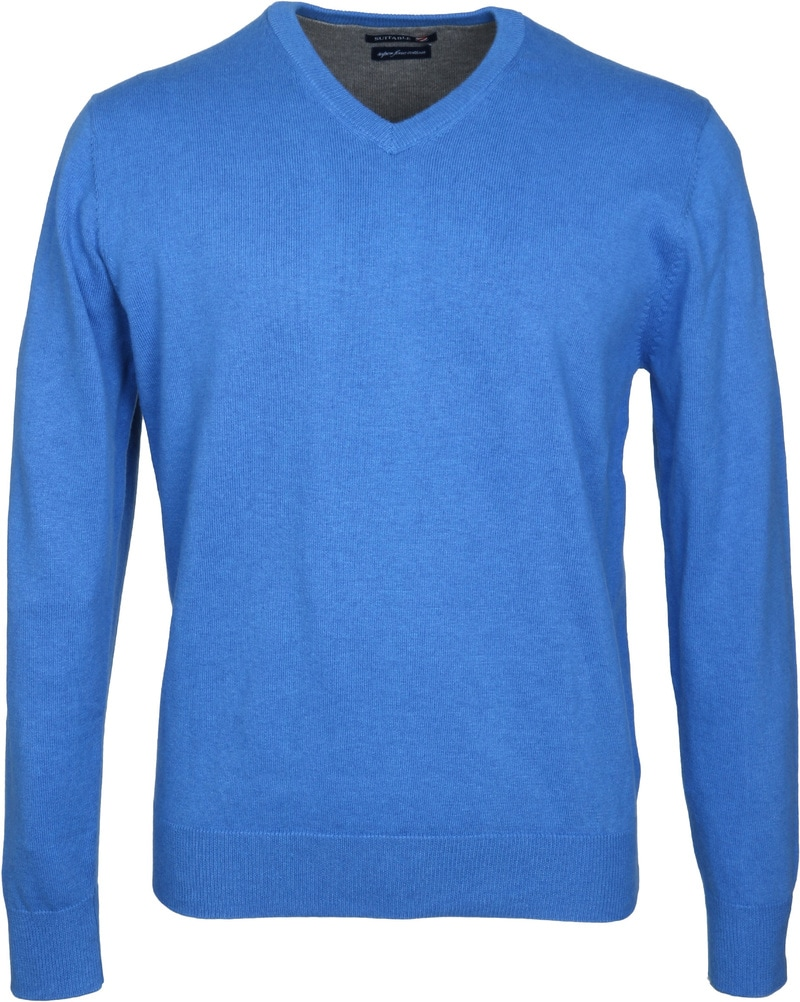 Detail Suitable Pullover Vini Blauw