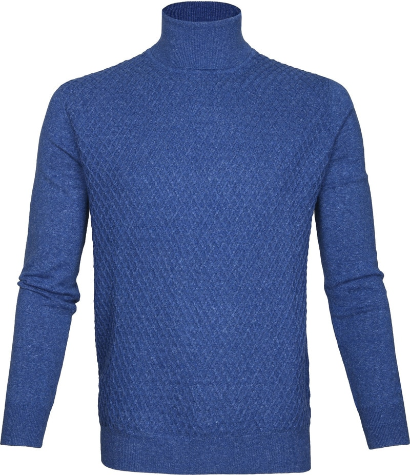 Suitable Rollkragenpullover Diamant Blau Foto 0