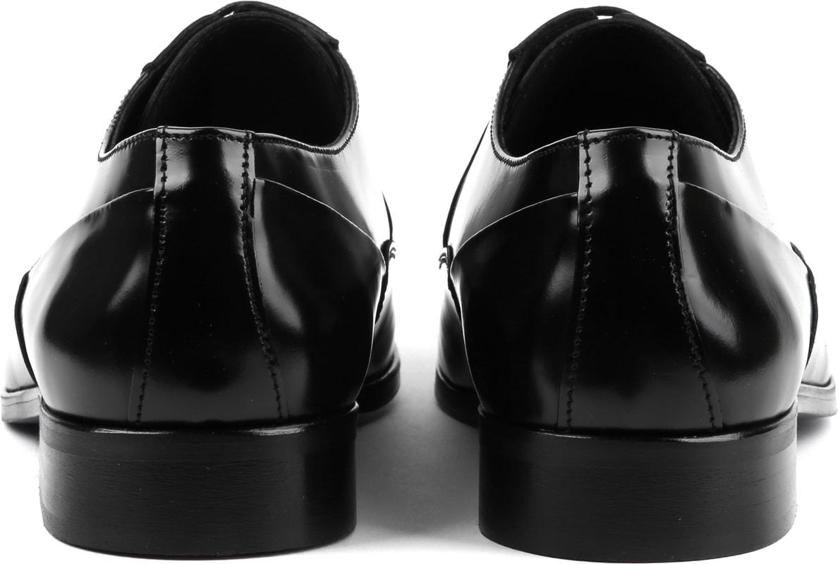 Suitable Schwarze Schnürschuhe Lackleder Foto 3