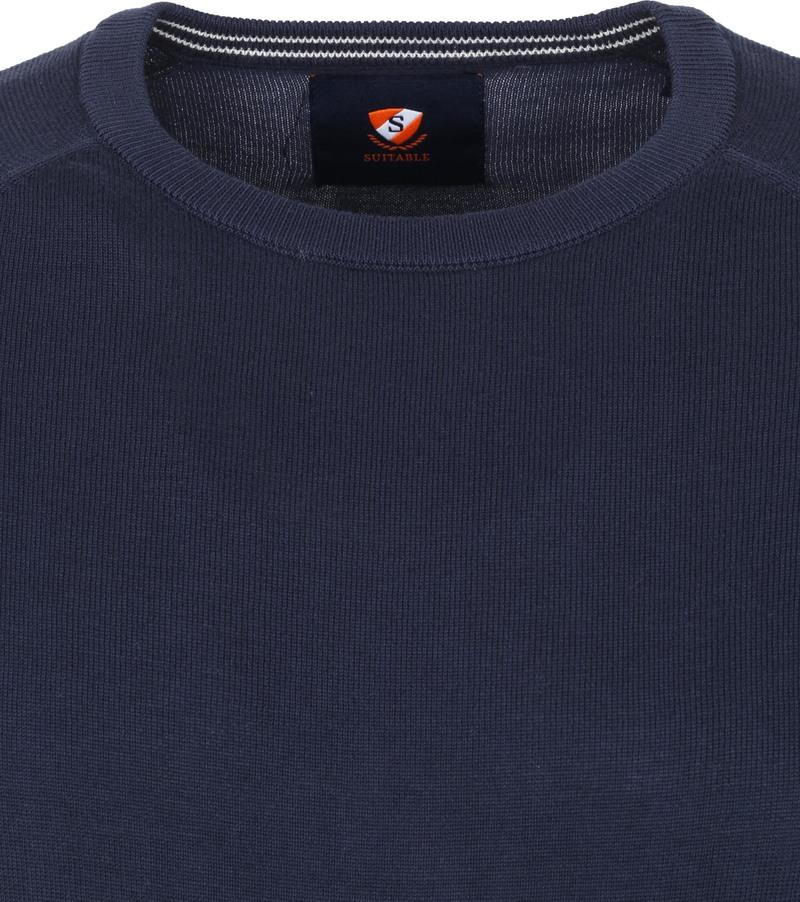 Suitable Scott Pullover Donkerblauw - Donkerblauw maat XL