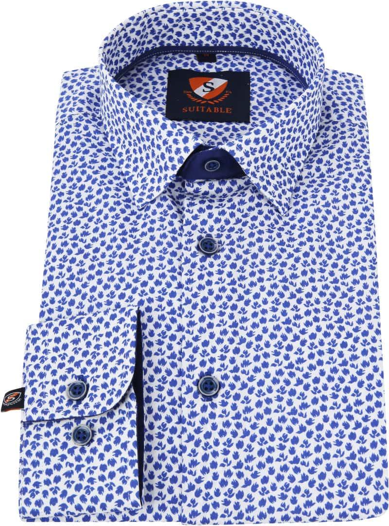 Suitable Shirt HBD Leaf Royal Blue photo 3