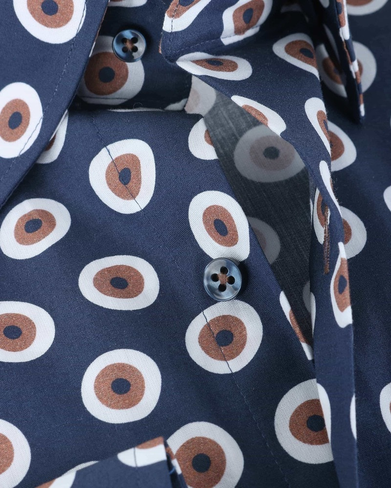 Suitable Shirt Navy Brown 141-5 photo 3