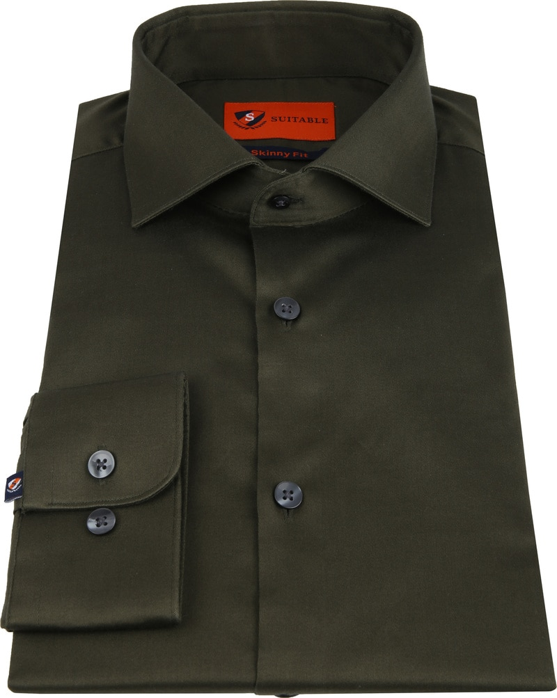 Suitable Shirt Skinny-Fit Olive photo 2