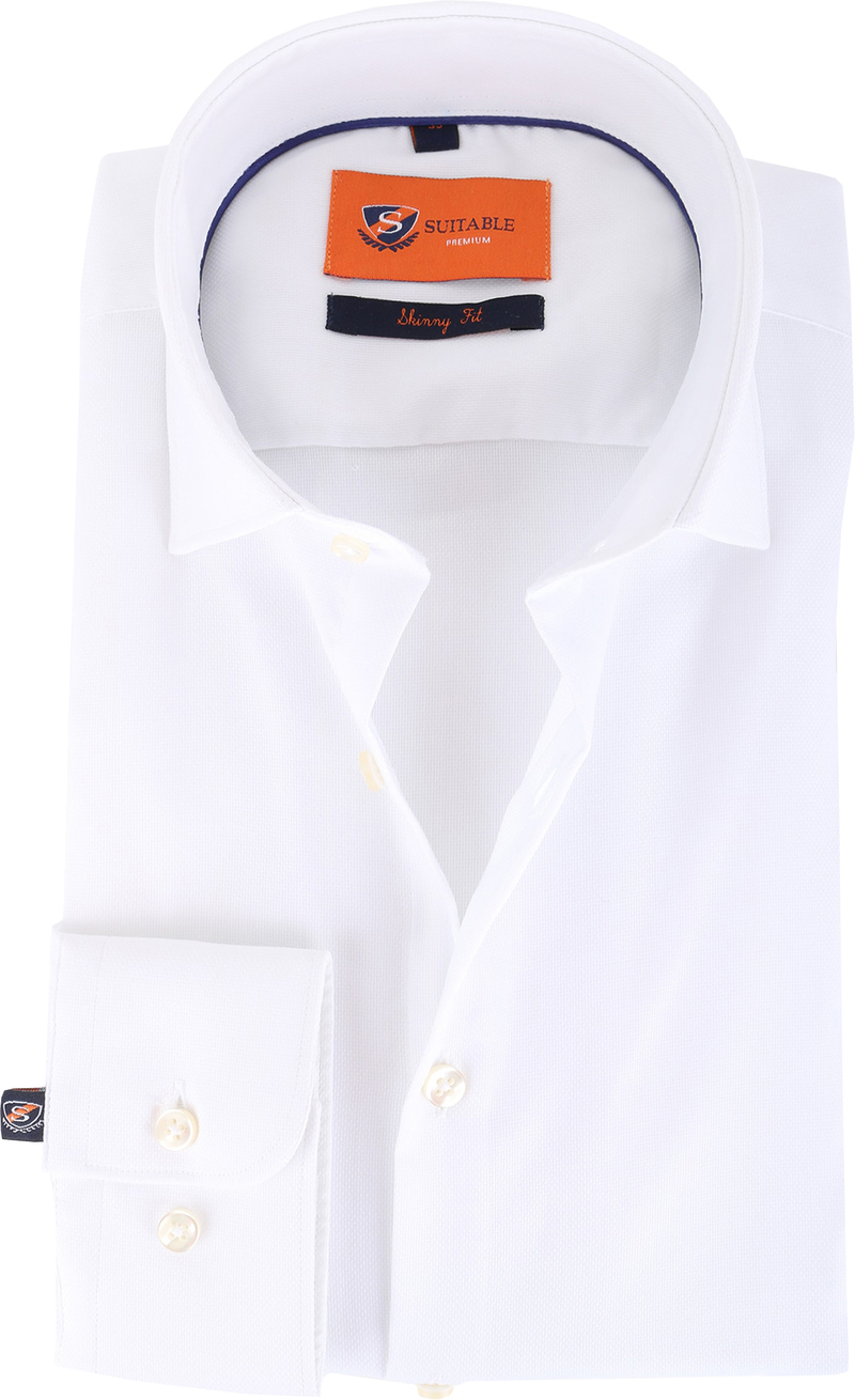 Suitable Shirt Skinny Fit White 132-2 photo 0