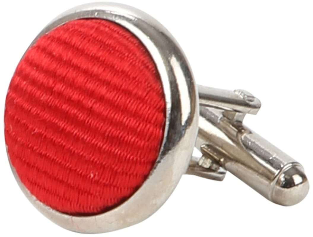Suitable Silk Cufflinks Red photo 1