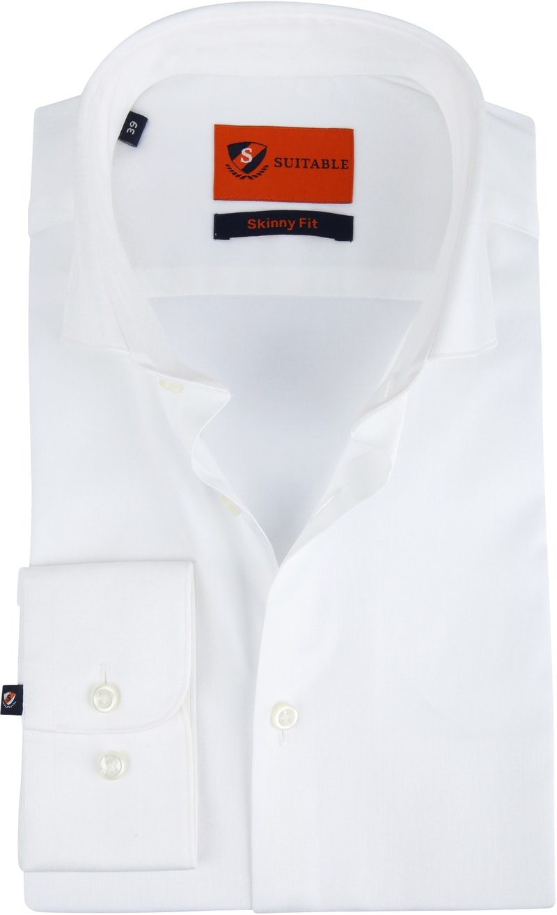 Suitable Skinny-Fit Shirt White photo 0