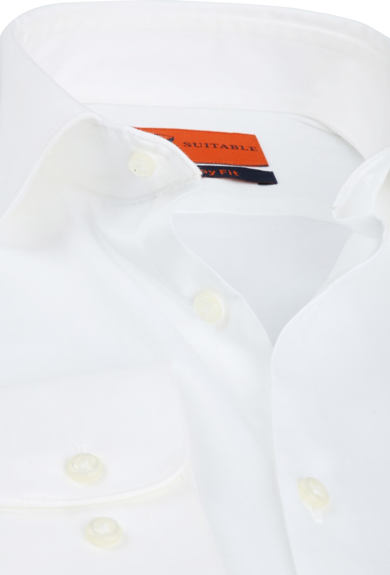 Suitable Skinny-Fit Shirt White photo 1